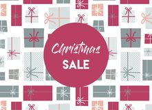 Christmas sale. christmas present background. Royalty Free Stock Images