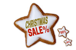 Christmas Sale cinnamon star white isolated concept Royalty Free Stock Photos