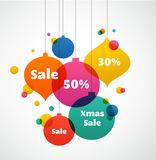 Christmas sale - colorful background. And greeting card Vector Illustration