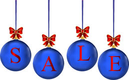 Christmas sale in colorful balls Royalty Free Stock Images