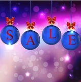 Christmas sale in colorful balls Royalty Free Stock Photography