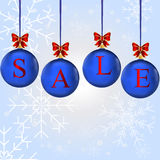 Christmas sale in colorful balls Royalty Free Stock Image