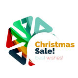 Christmas sale colorful geometric abstract background. Vector Royalty Free Stock Image