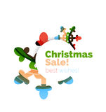 Christmas sale colorful geometric abstract background. Vector Stock Photography