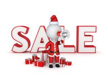Christmas sale concept. Royalty Free Stock Image