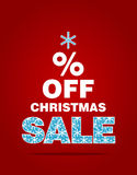Christmas sale concept. Stylized vector fir tree Stock Images