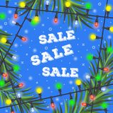 Christmas sale concept for your design stock illustration