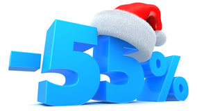 Christmas sale. 3d illustration of 50 percent discount Christmas sale Stock Photography