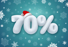 Christmas sale, 3d snow discount Stock Images