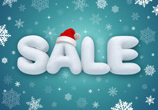 Christmas sale, 3d snow text. Christmas sale poster with 3d snow text Stock Photography