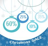 Christmas sale, decoration and balls Stock Photo