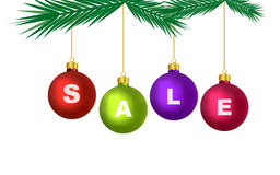 Christmas Sale Decoration (Vector) Royalty Free Stock Image
