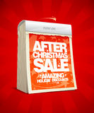 After christmas sale design in form of tear-off ca Stock Images