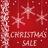 Christmas sale design Royalty Free Stock Image