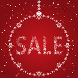 Christmas sale design Royalty Free Stock Photos