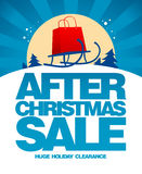 After christmas sale design template. Royalty Free Stock Photo