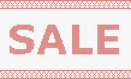 Christmas sale design template Royalty Free Stock Photos