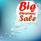 Christmas sale design template. + EPS10 Royalty Free Stock Photo
