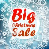 Christmas sale design template. + EPS10 Royalty Free Stock Image