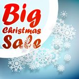 Christmas sale design template. + EPS10 Royalty Free Stock Photos
