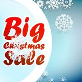 Christmas sale design template. + EPS10 Stock Photography