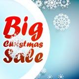 Christmas sale design template. + EPS10 Stock Photography