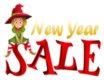 Christmas sale design template Royalty Free Stock Photography