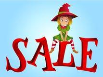 Christmas sale design template Stock Photos