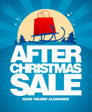 After christmas sale design template. Royalty Free Stock Photography