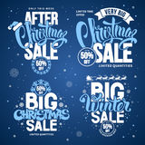 Christmas Sale Design Template. S Set with Calligraphy Inscriptions and Christmas Design Elements. Easy to edit and Customise. Vector Stock Illustration Stock Images