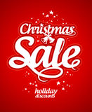 Christmas sale design template. Royalty Free Stock Image