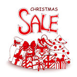 Christmas sale design template. Royalty Free Stock Photography