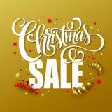 Christmas sale design template. Vector illustration Stock Photos