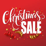 Christmas sale design template. Vector illustration Stock Images