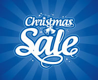 Christmas sale design template. Royalty Free Stock Photo