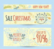 Christmas sale design template web banner Royalty Free Stock Image