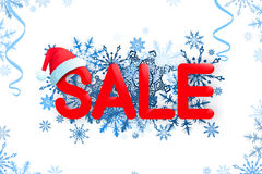 Christmas sale design template on white background Stock Images