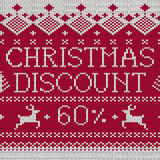 Christmas Sale: Discount 60% (Scandinavian style seamless knitte Royalty Free Stock Image