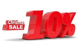 Christmas sale. Discount ten percent off. 3D rendering Stock Photo