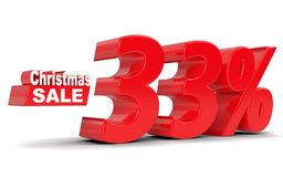 Christmas sale. Discount thirty three percent off Royalty Free Stock Photography