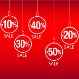 Christmas sale discount Stock Photos