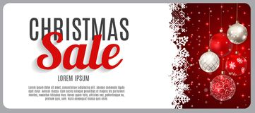 Merry christmas cardbackground or salediscount banner stock christmas sale discount voucher banner background business discount card vector illustration royalty free reheart Image collections