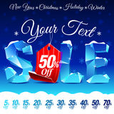 Christmas Sale Discount Royalty Free Stock Photo