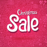 Christmas Sale doodle poster Stock Image