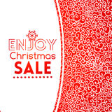 Christmas sale doodle seamless pattern like lace Stock Images