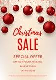 Christmas sale flyer template Stock Photo