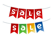 Christmas Sale garlands Stock Photos