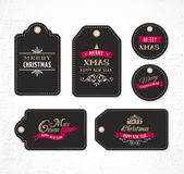 Christmas Sale, Gift Tags and labels Stock Images
