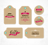 Christmas Sale, Gift Tags and labels Royalty Free Stock Photography