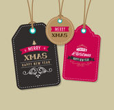 Christmas Sale, Gift Tags and labels Royalty Free Stock Images